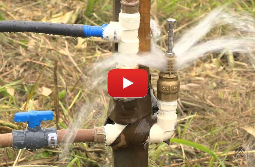 Carneiro Hidráulico para bombeamento de água sem energia elétrica