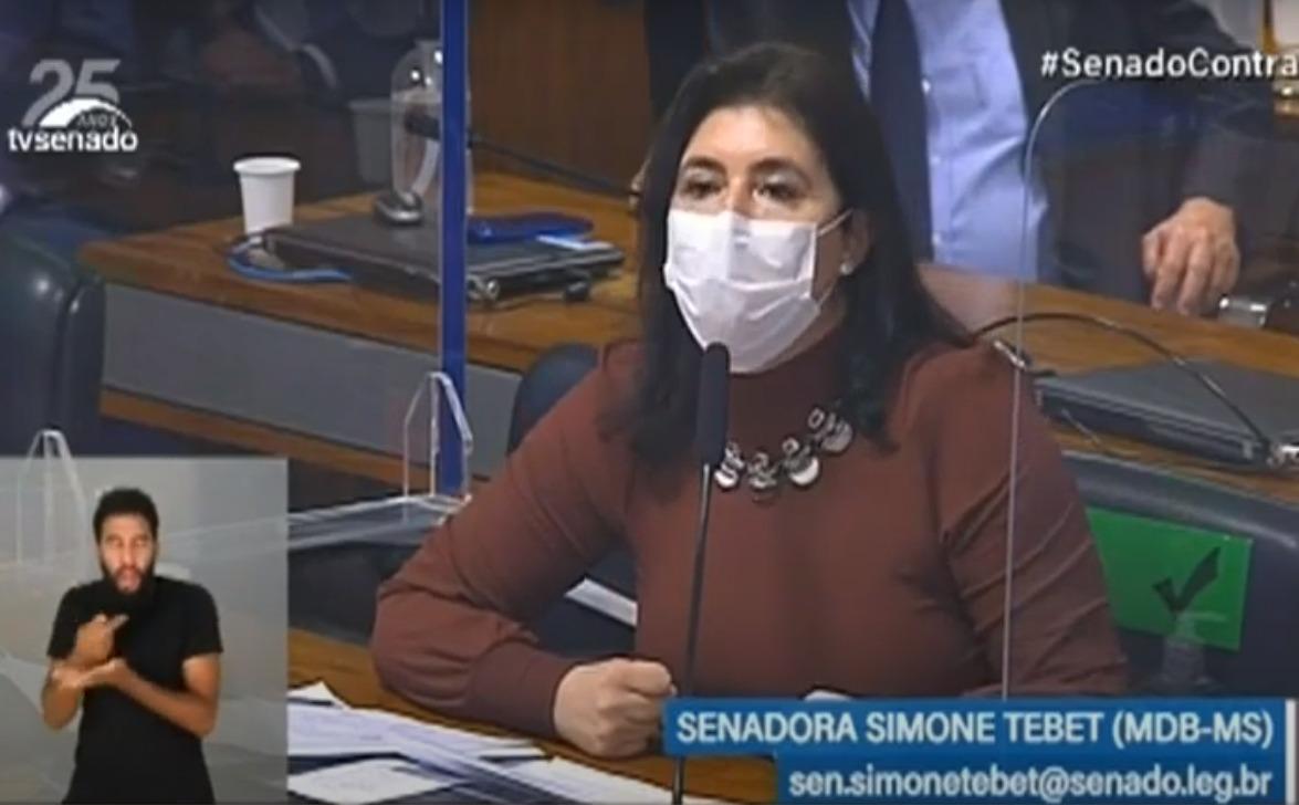 CPI da Pandemia pega fogo com ministro da CGU e senadora Simone Tebet (MDB-MS)