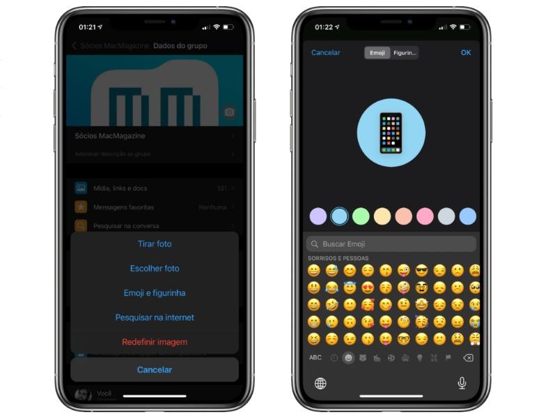 WhatsApp lança função para usuários poder criar e personalizar ícones de grupos